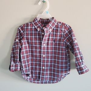Ralph Lauren Plaid Button Down Shirt 18 M